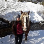 Katja und ein besonders großer Isländer hihi